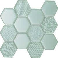 Hex Mix - Sea View - Size 9x11 mosaic nominal