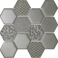 Hex Mix - Shadow - Size 9x11 mosaic nominal