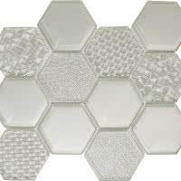 Hex Mix - Slate Grey - Size 9x11 mosaic nominal