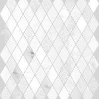 Marble Medley - Bianco Carrara Diamond - Size 12x12 mosaic