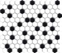 Restoration Mosaic - Black White - Size 10x12