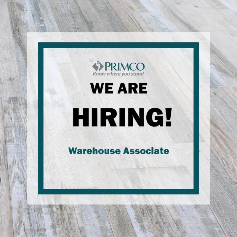We're Hiring - Warehouse